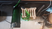 Aquarium acessories,  includes filter,  heater,  roman monument,  plants